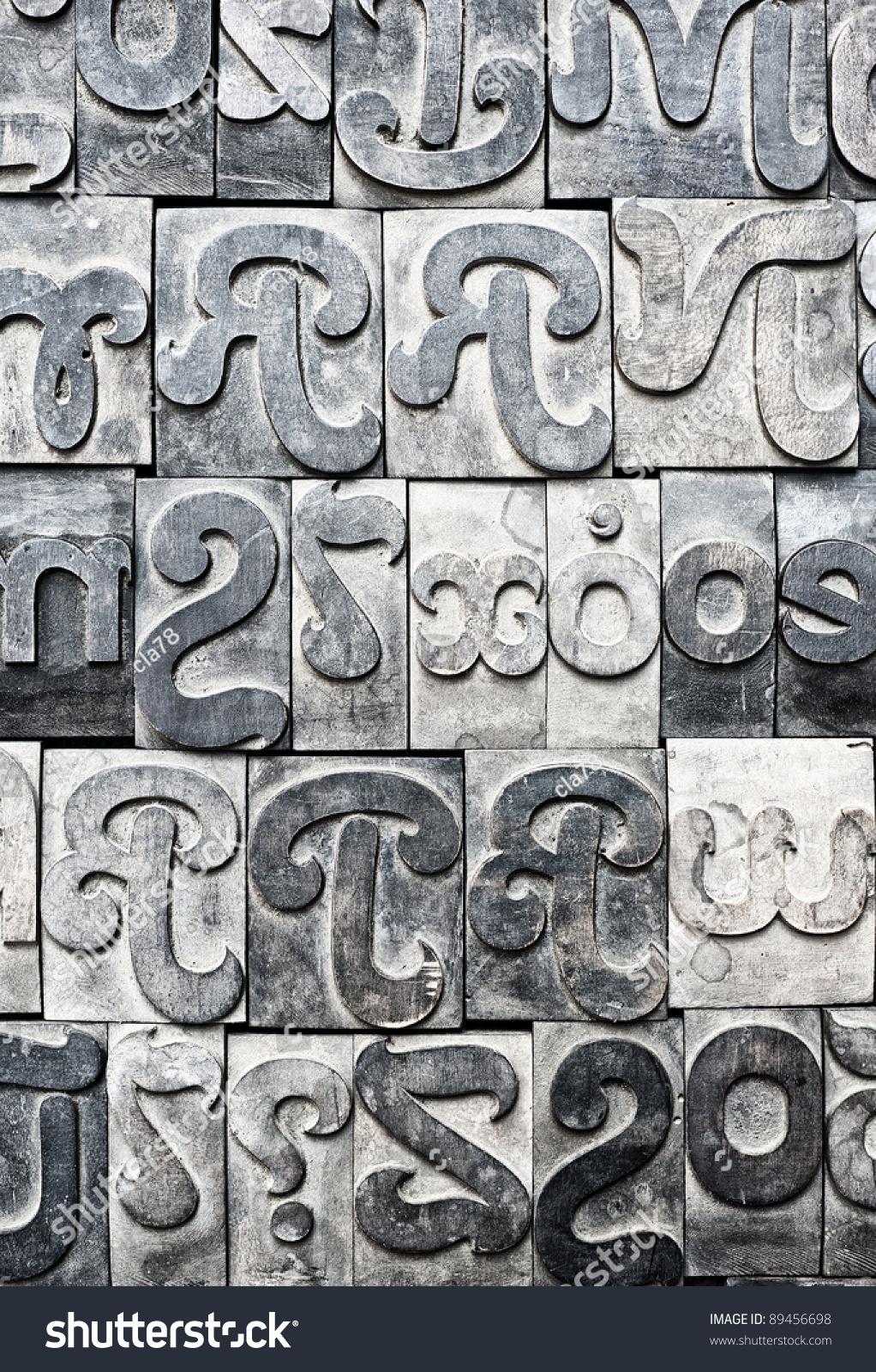 Metal Block Letters Many Metal Block Letters Stock Photo 89456698  Shutterstock