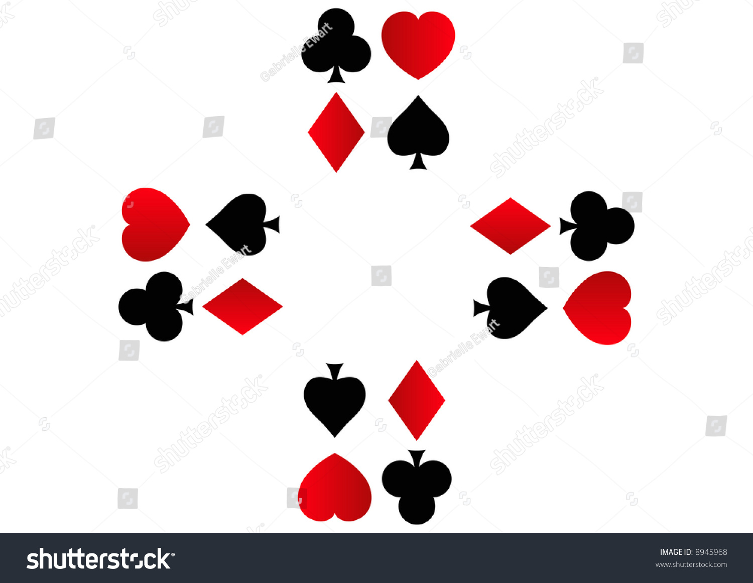 rows spades clubs hearts diamonds shapes stock illustration 8945968