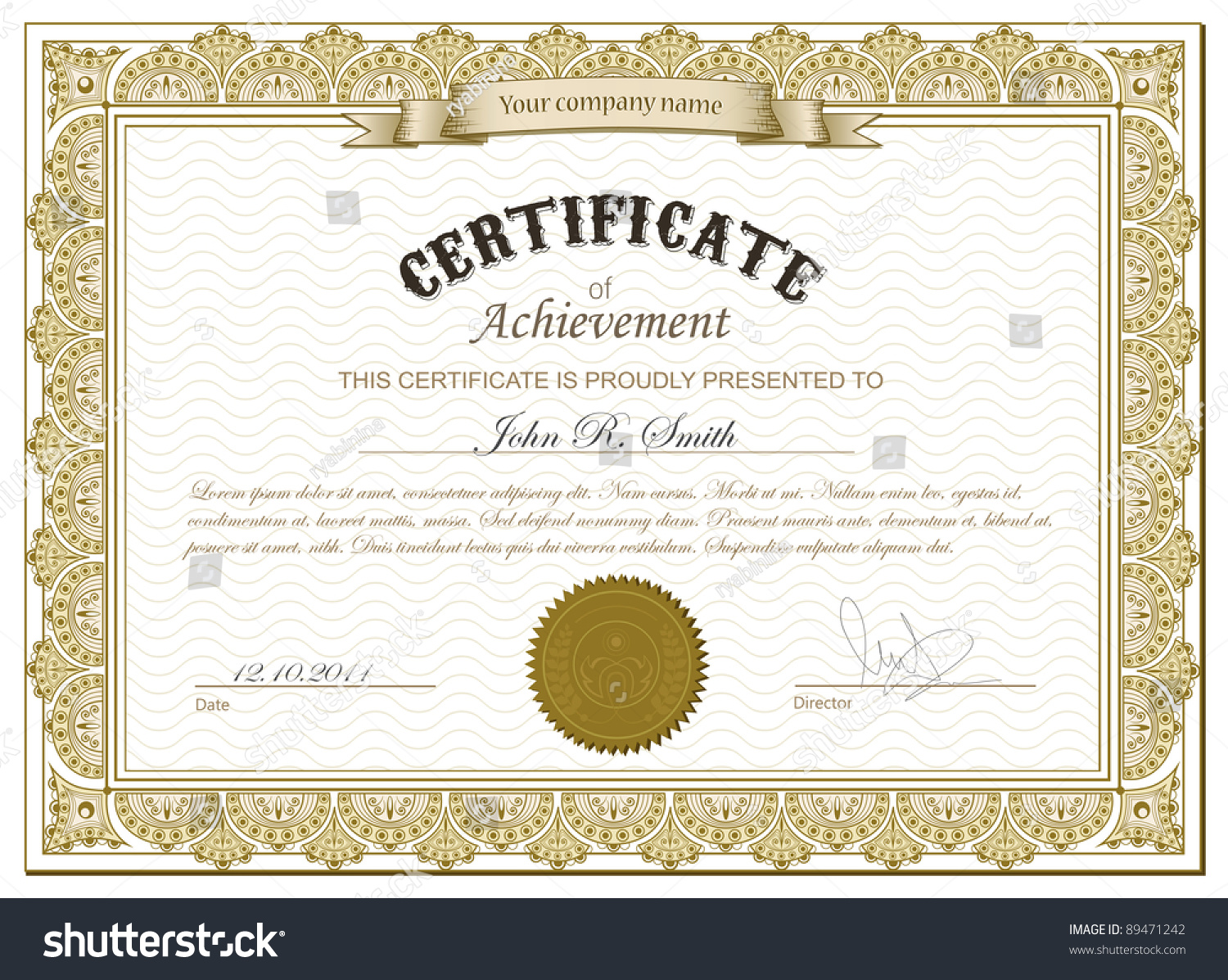 Vector illustration detailed gold certificate stock vector vector illustration of detailed gold certificate xflitez Choice Image