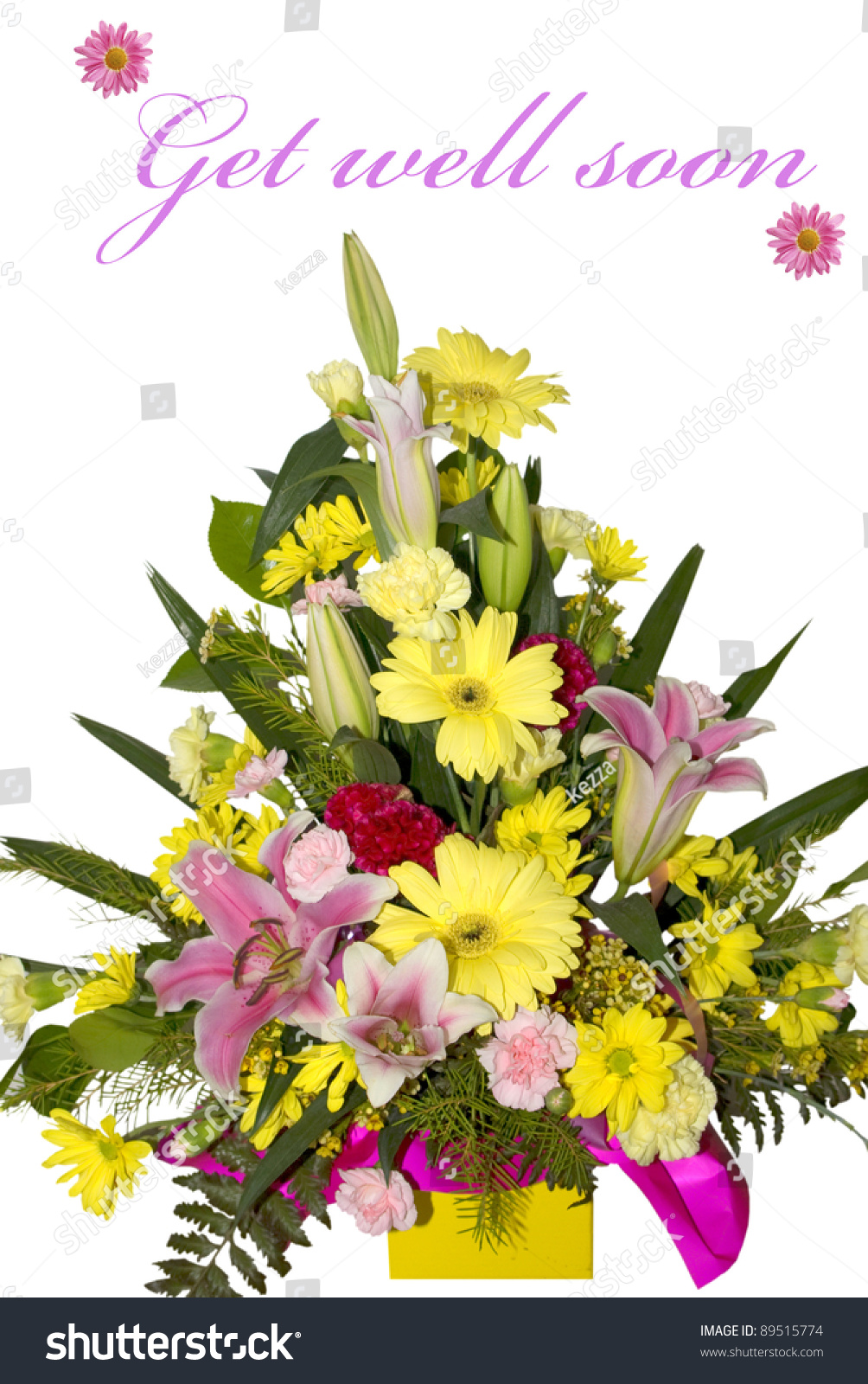 Beautiful Bouquet Flowers Get Well Soon Stock Photo Edit Now