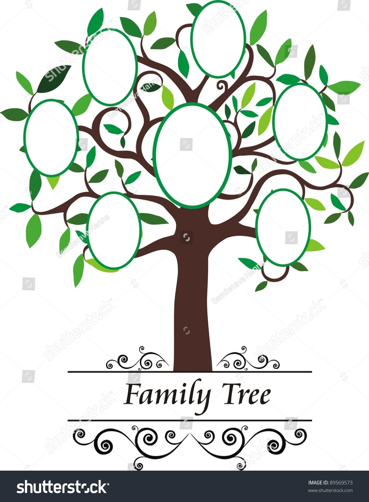 Family Tree Frames Empty Your Input Stock Illustration 89569573 ...