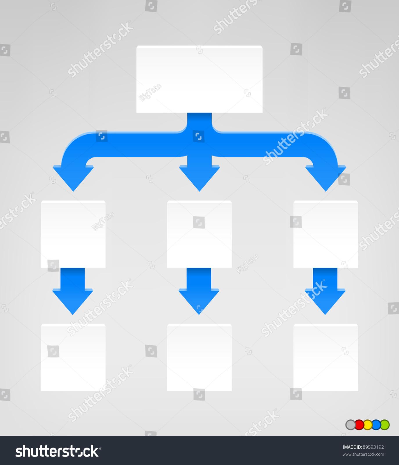 empty diagram eps 8 format high stock vector 89593192