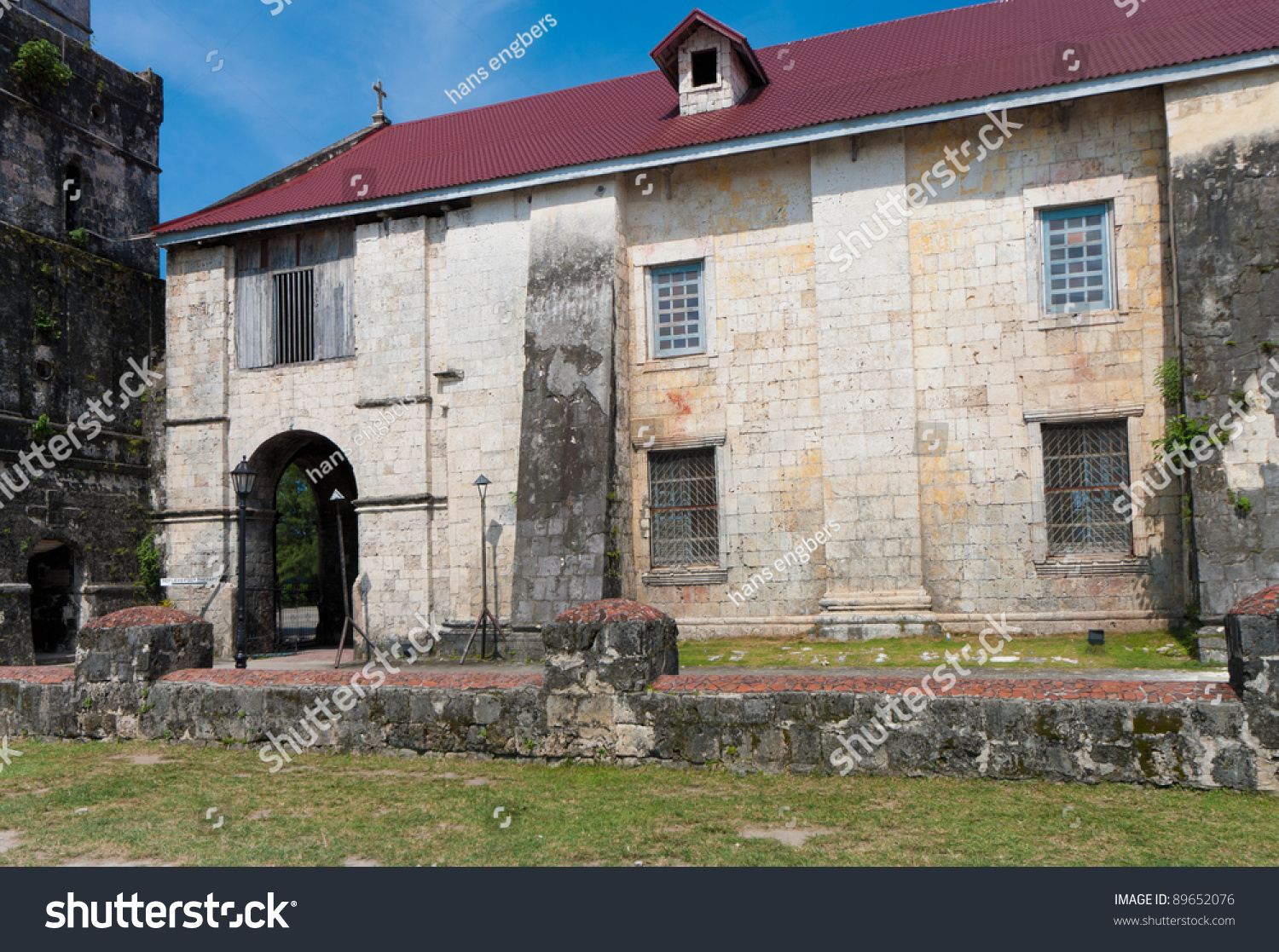 Baclayon Philippines  City new picture : exterior of the Baclayon church on Bohol, Philippines. You can see the ...