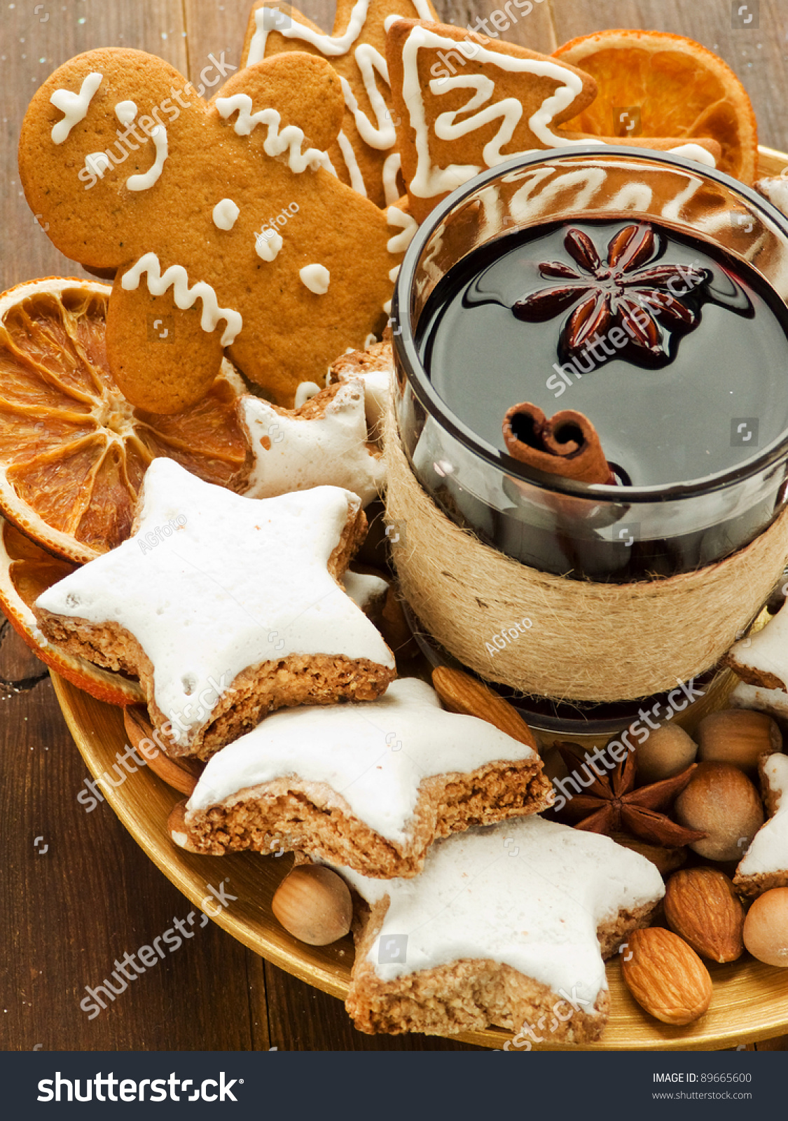 Mulled Wine Spices Christmas Cookies Shallow Stock Photo Edit Now