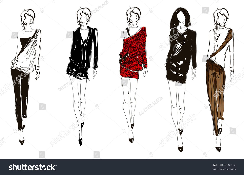 PRINTABLE TEMPLATES Fashion Figure Templates  Fashion