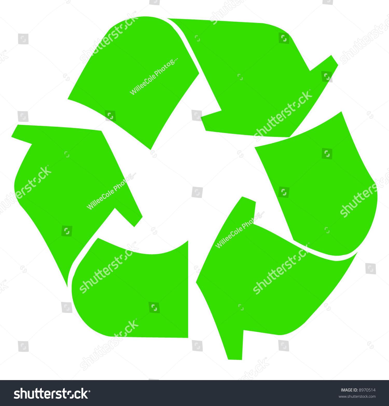 Green recycle symbol logo on white stock vector 8970514 shutterstock green recycle symbol or logo on white background vector buycottarizona Choice Image