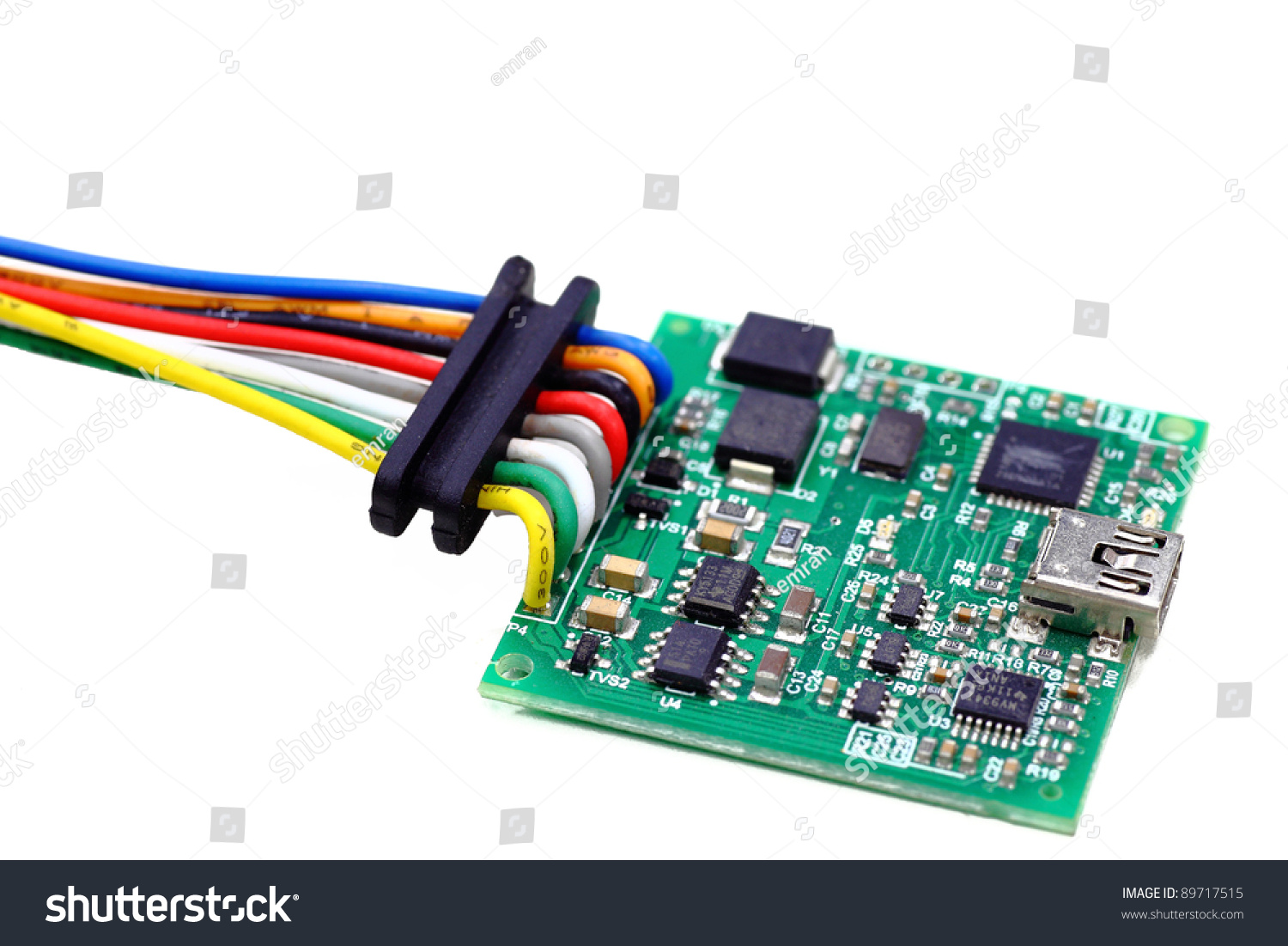 Common Green Integrated Circuit Ic Board Stock Photo Edit Now Basic Information For Beginners In A And Surface Mount Technology Isolated On White