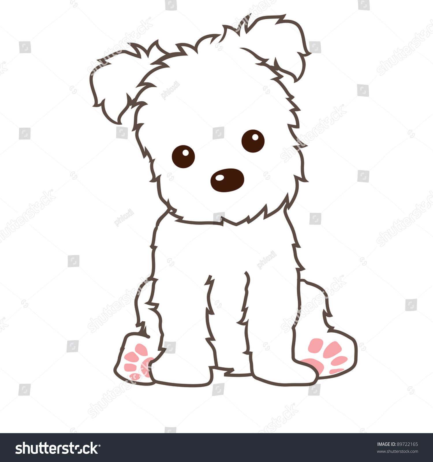 Terrier Dog Vector Stock Vector 89722165 Shutterstock