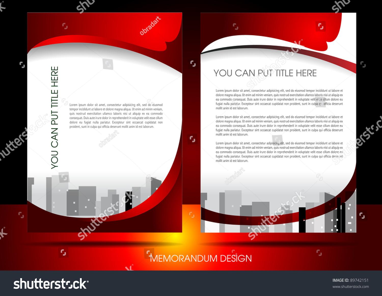 memorandum design stock vector shutterstock memorandum design