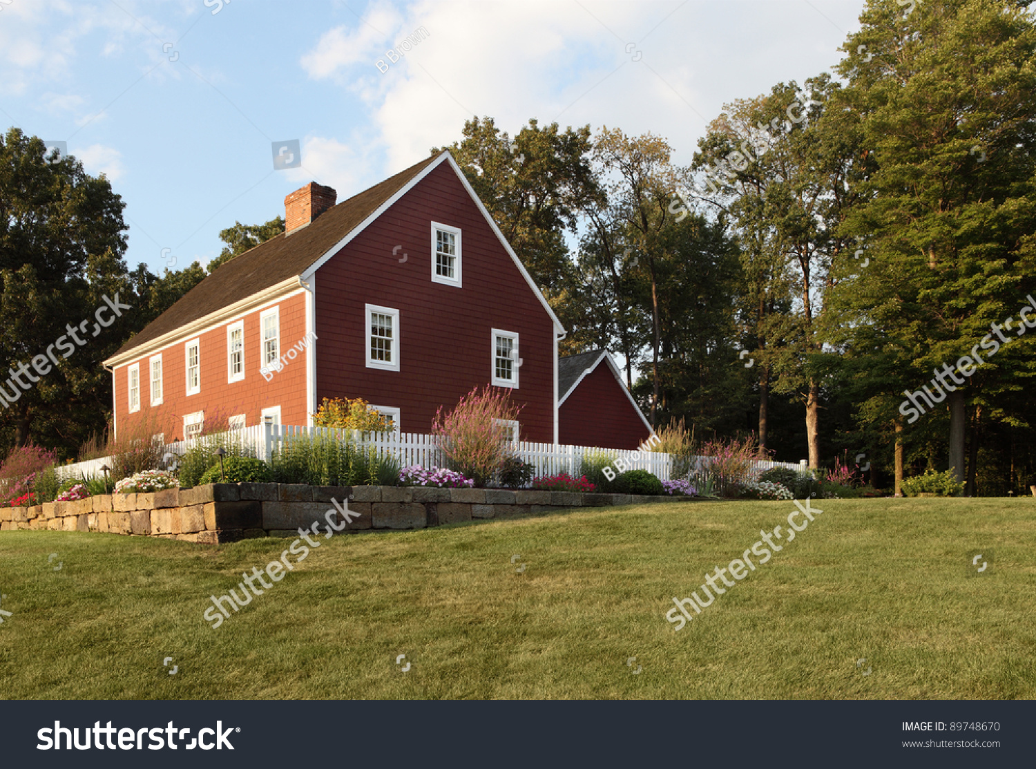 An image of the exterior a primitive colonial style for Reproduction homes