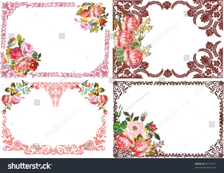 Illustration four beautiful rose flower frames stock vector 89774761 illustration with four beautiful rose flower frames izmirmasajfo