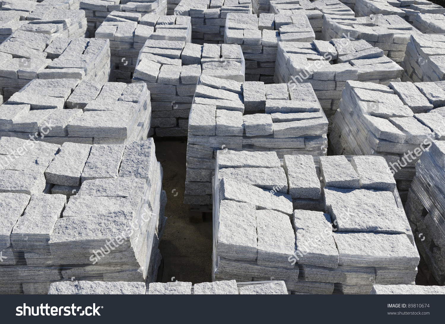Blocks Marble Auction : Granite blocks ready for sale stock photo