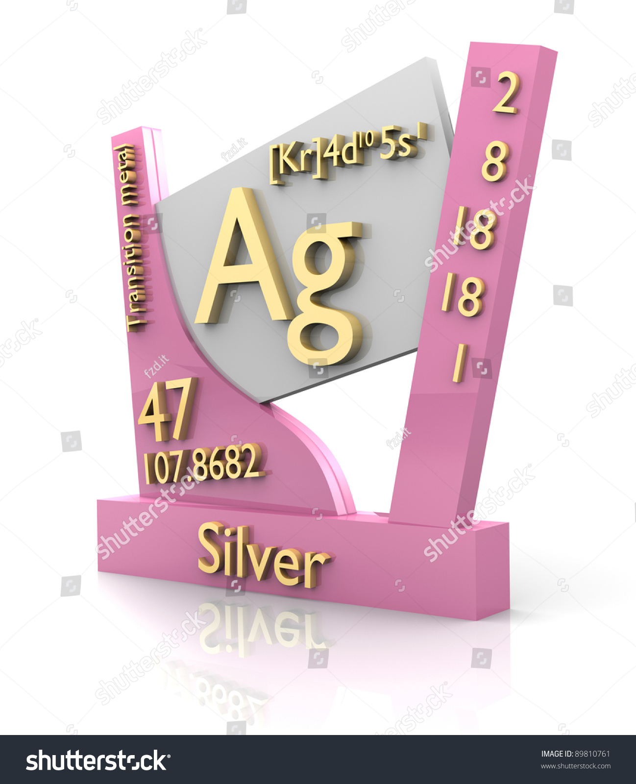 Silver form periodic table elements 3d stock illustration 89810761 silver form periodic table of elements 3d made gamestrikefo Image collections