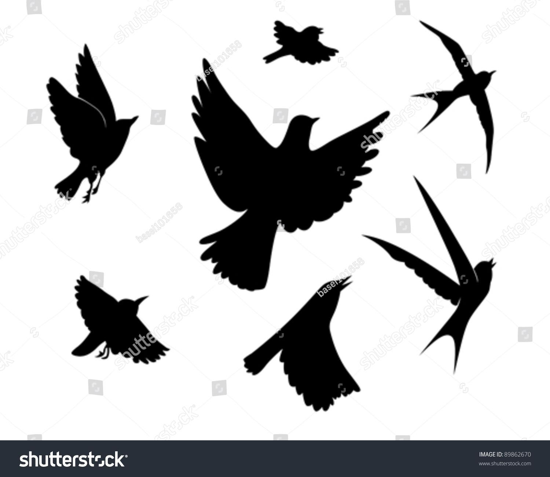 Dove Silhouette In Flight