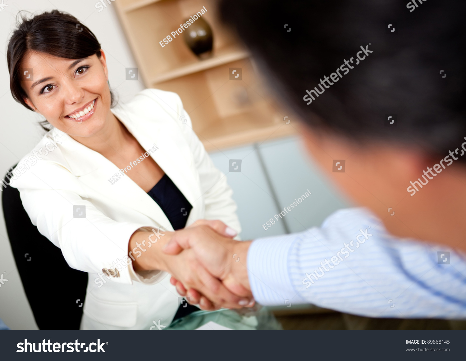 Business people handshake greeting deal at work photo free download - Business People Closing A Business Deal With Handshake