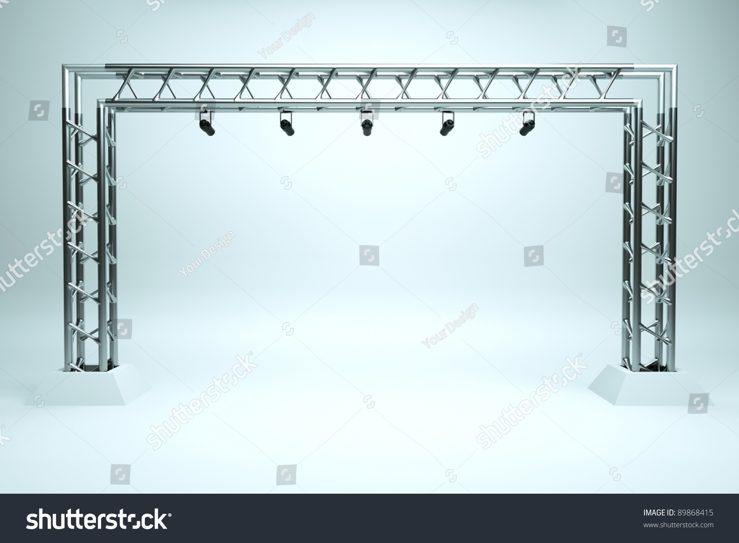 Concert Stage Metal Frame Stock Illustration 89868415 - Shutterstock