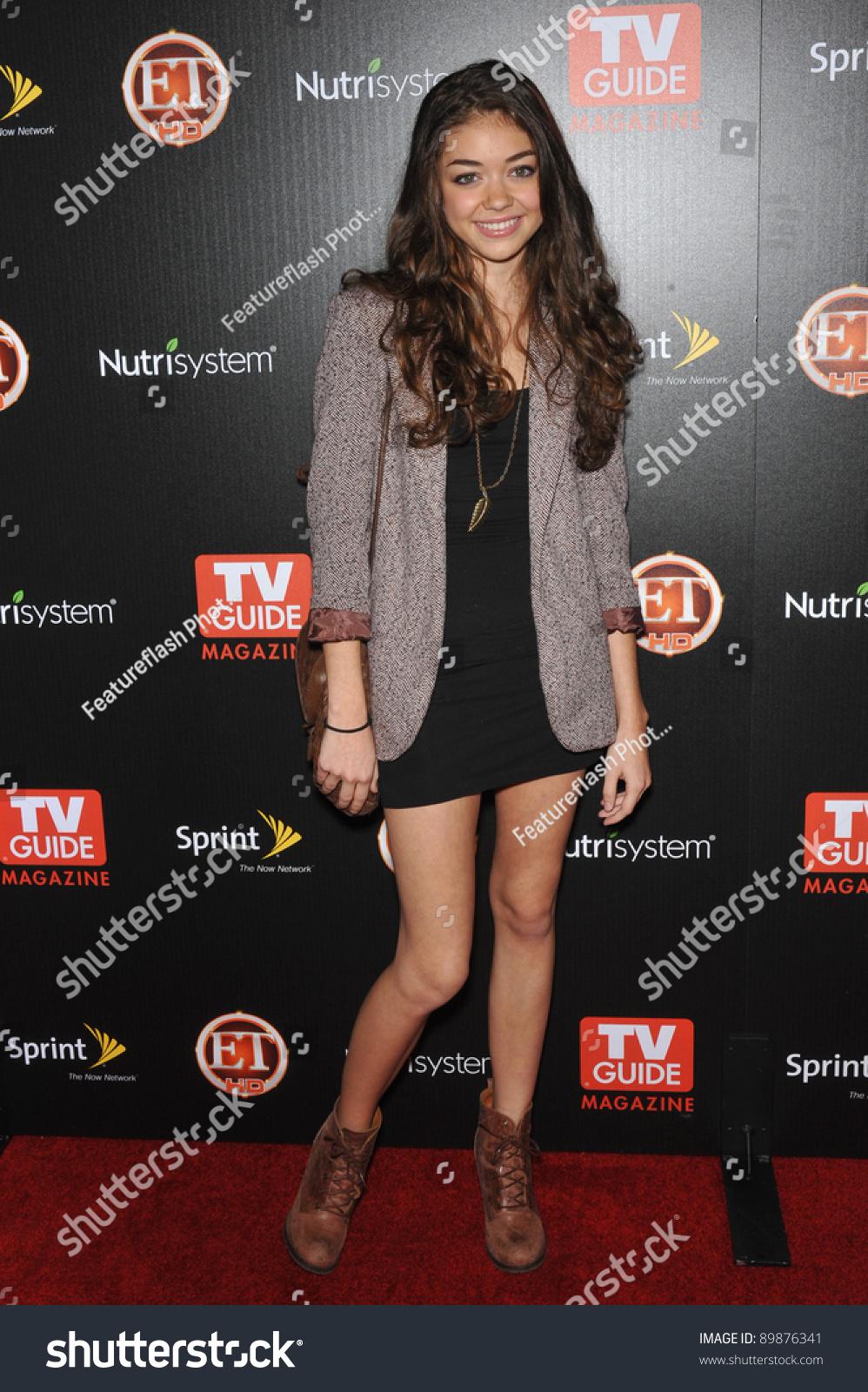Sarah Hyland Tv Guide Magazines Hot Stock Photo 89876341 ...