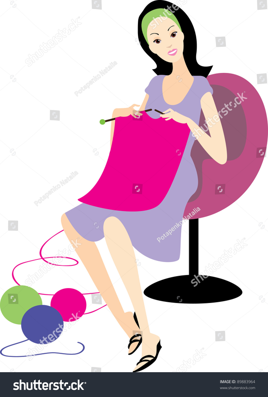 Person Knitting Clipart : Girl knitting clipart pixshark images