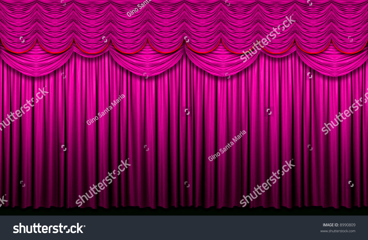 Red stage curtain with lights - Red Violet Stage Curtain With Yellow Accents With Light And Shadow Preview Save To A Lightbox
