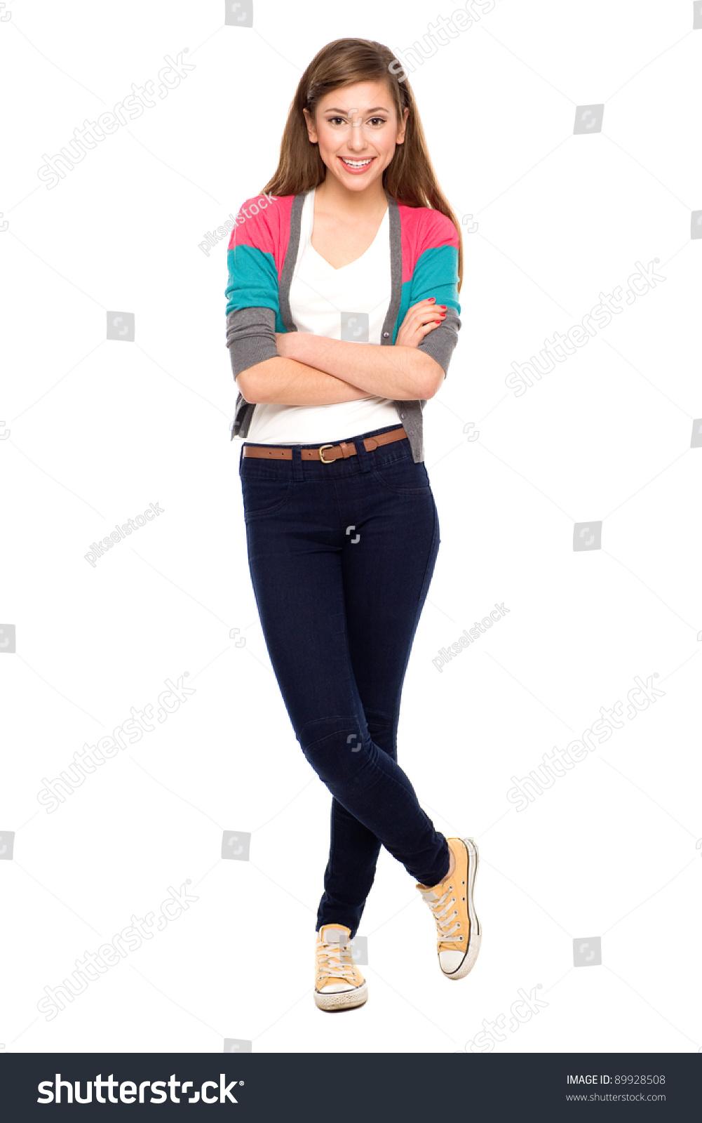 Teenage Girl Arms Crossed Stock Photo Edit Now 89928508
