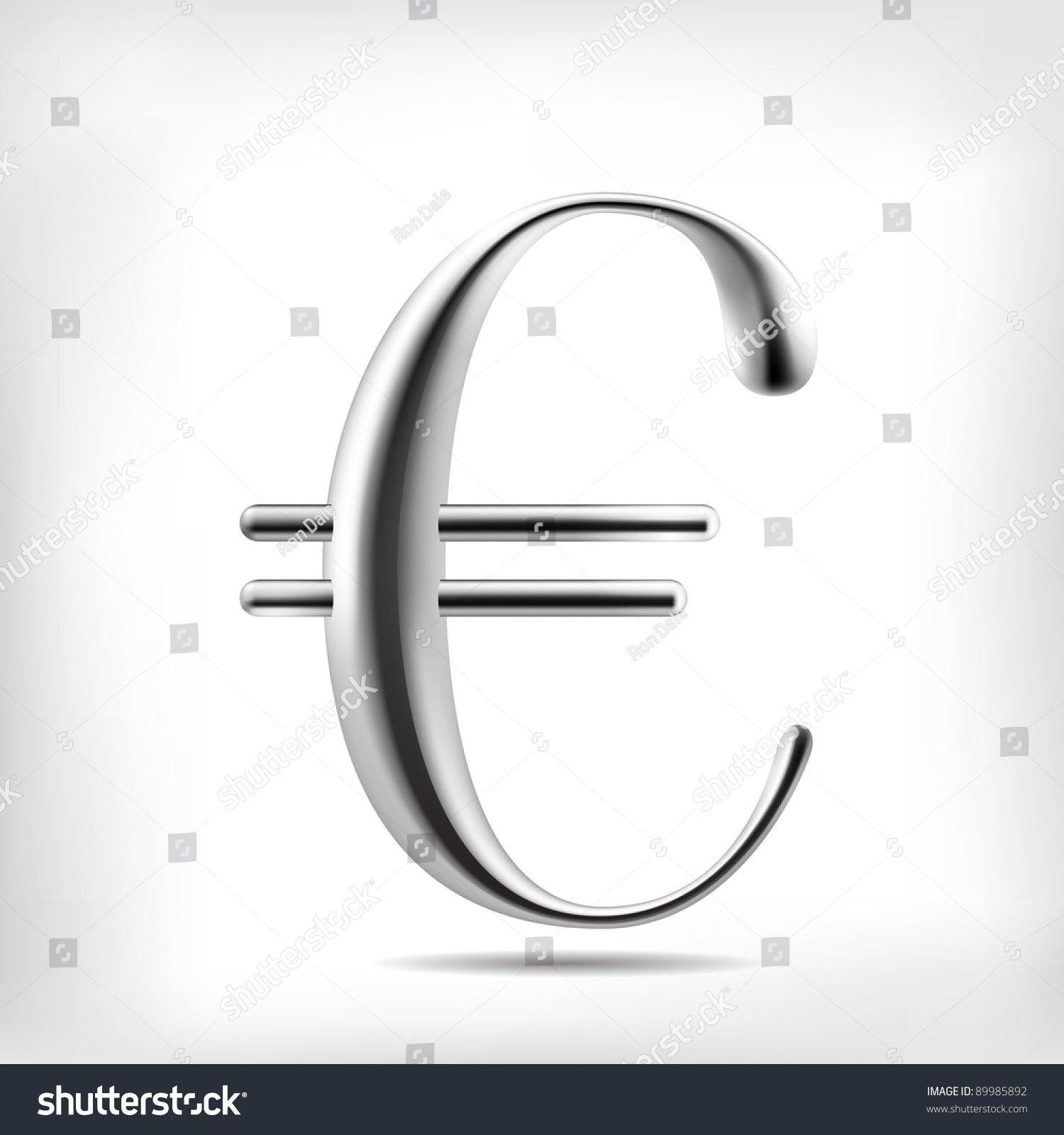 Euro Currency Signs High Detailed Mesh Stock Vector 89985892