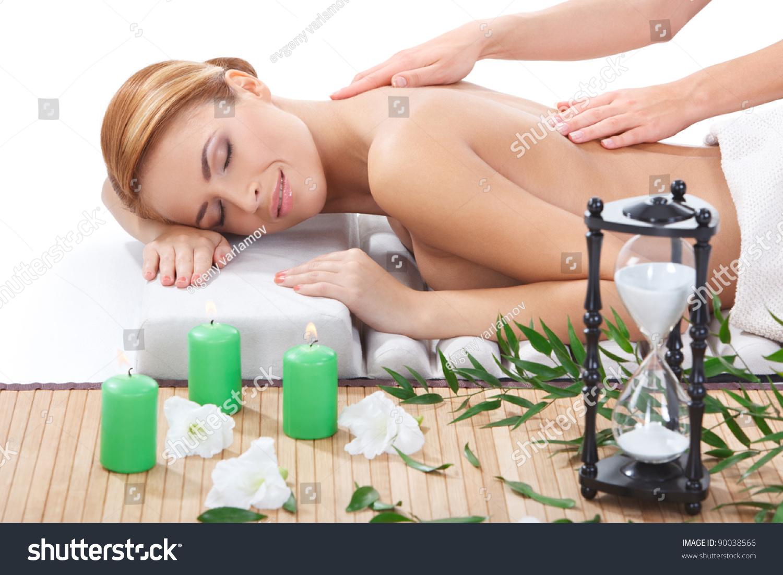 Naked getting back massage
