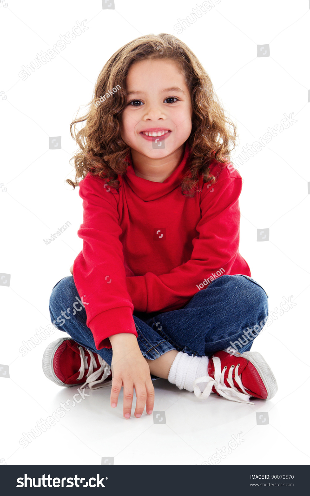 stock image cute little girl sitting stock photo (download now