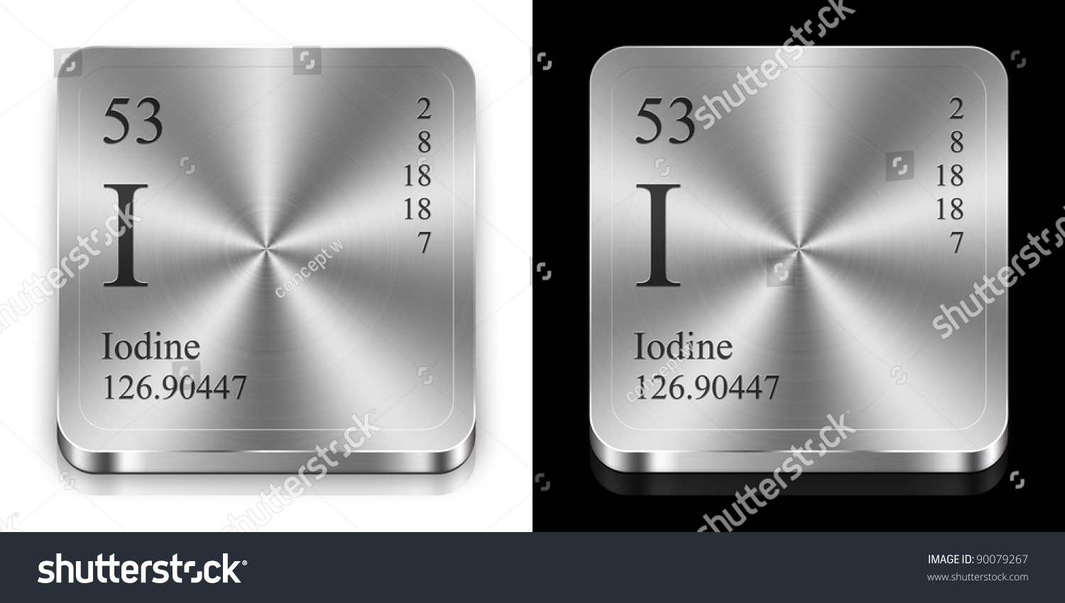 Iodine element periodic table two steel stock illustration iodine element of the periodic table two steel web buttons gamestrikefo Choice Image