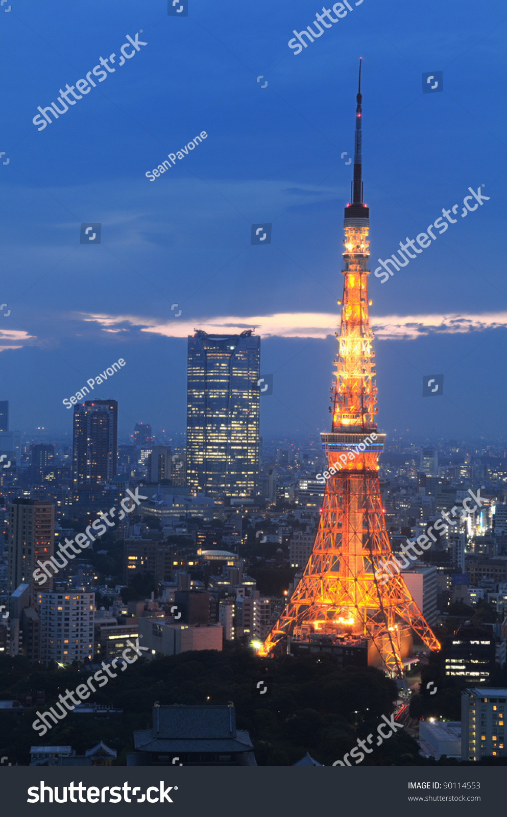 Tokyo Tower In Minato Ward, Tokyo, Japan. Stock Photo 90114553 : Shutterstock