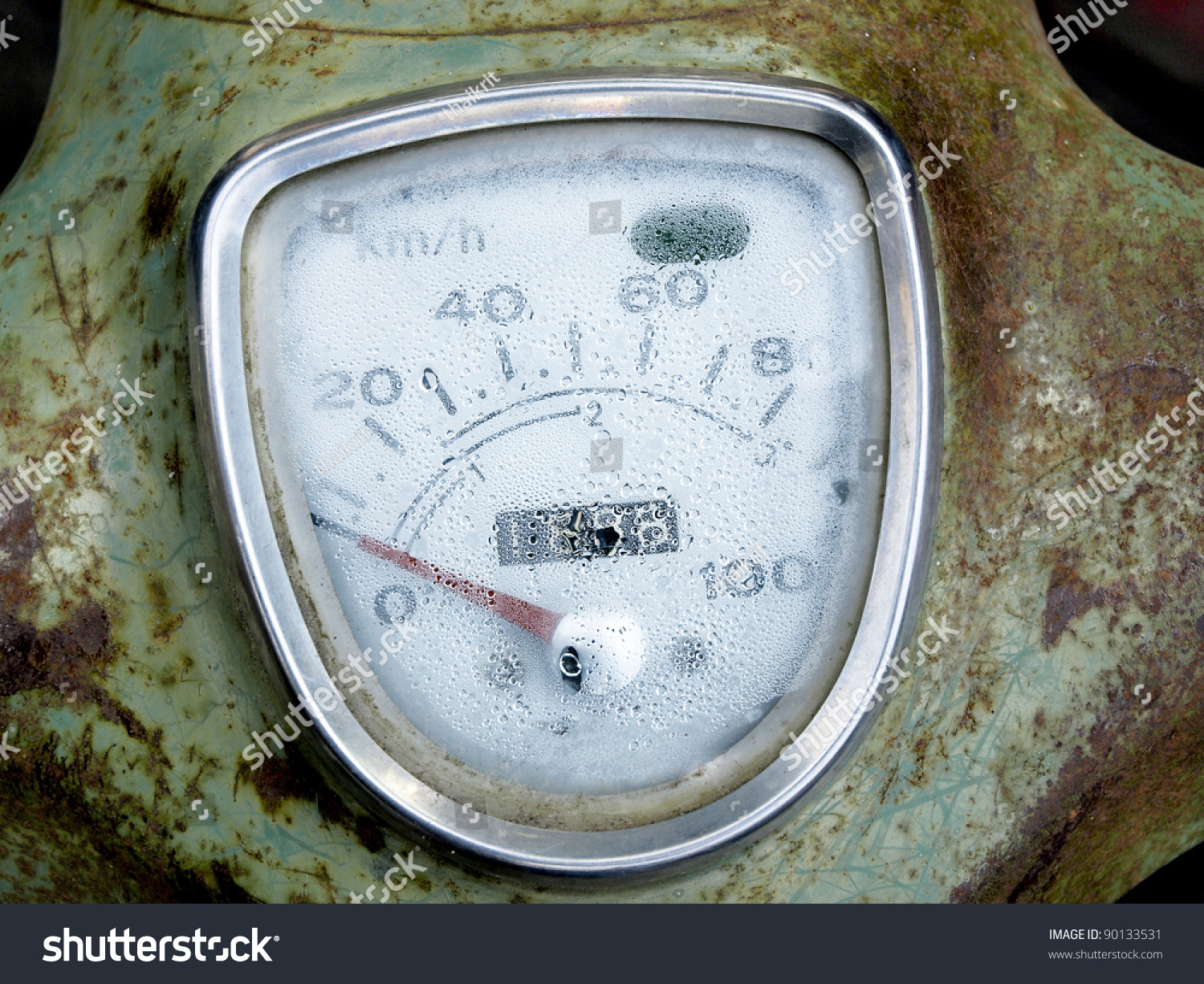 Speedometer Motorcycle Abandoned Concept Recycling Stock