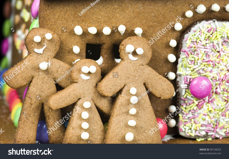 Gingerbread Man Family Stock Photo 90158353 : Shutterstock
