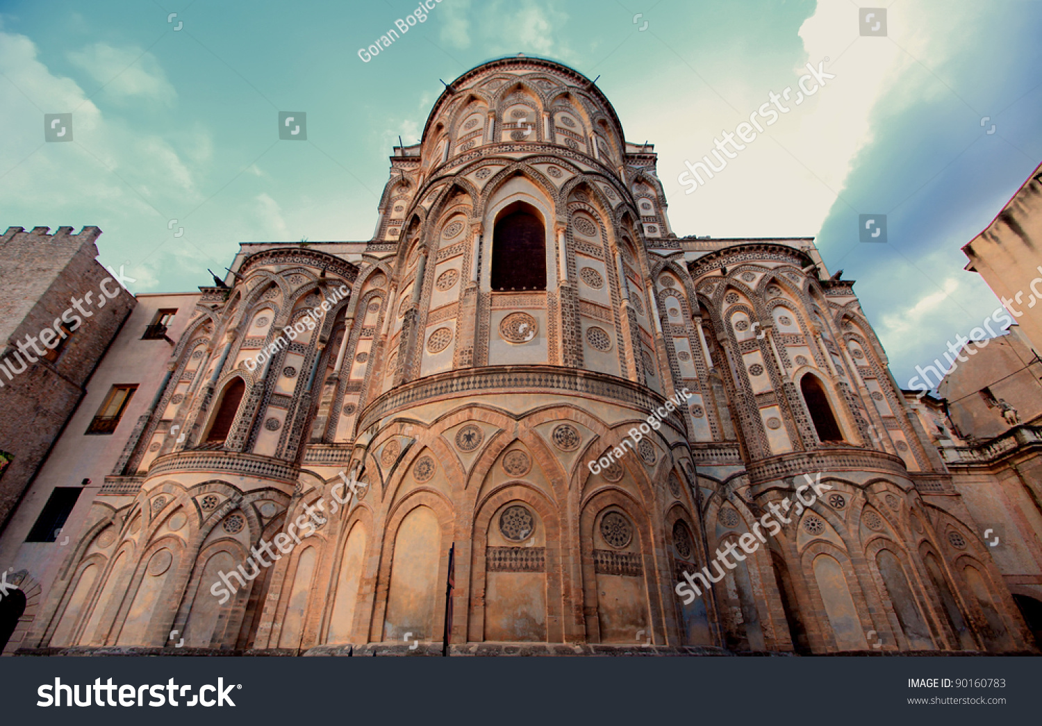 cathedral monreale palermo sicily stock photo edit now 90160783