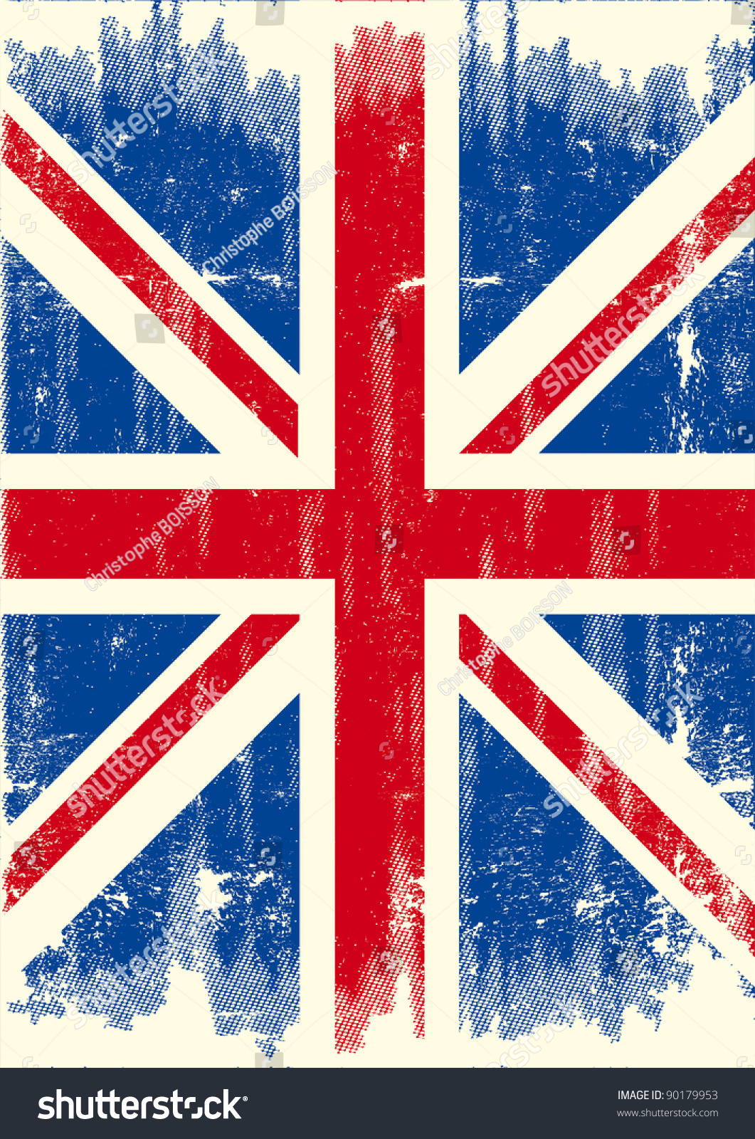uk dirty flag uk flag texture stock vector 90179953
