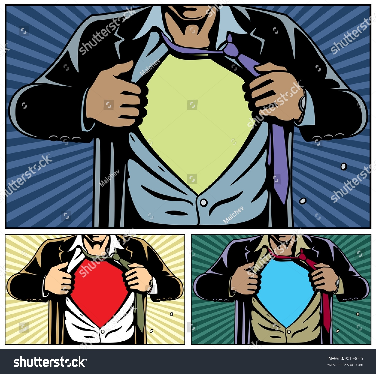 Simple Comic Book Covers ~ Superhero under cover comic book style stock vector