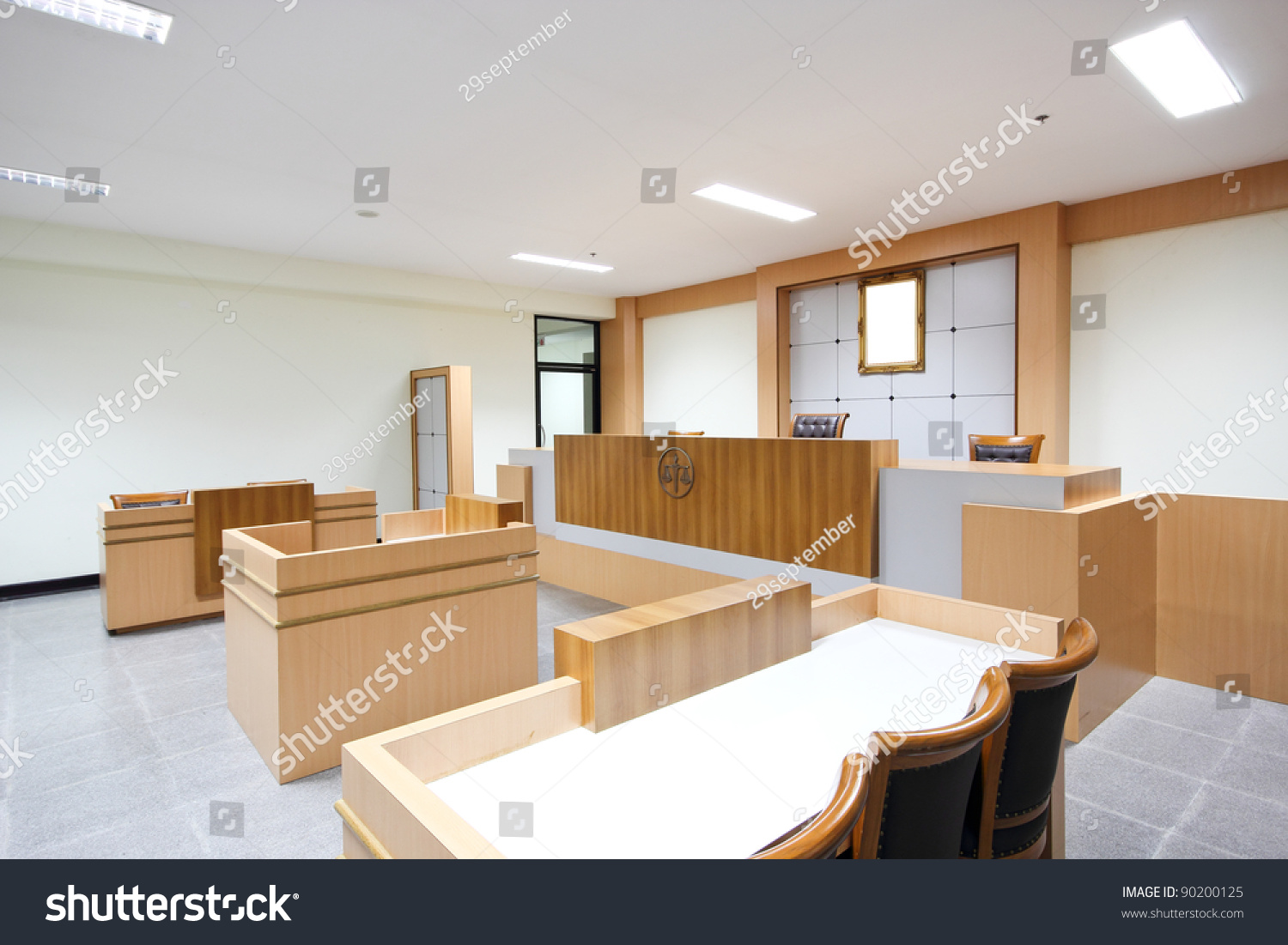 Empty Courtroom Modern Class Room University Stock Photo ...