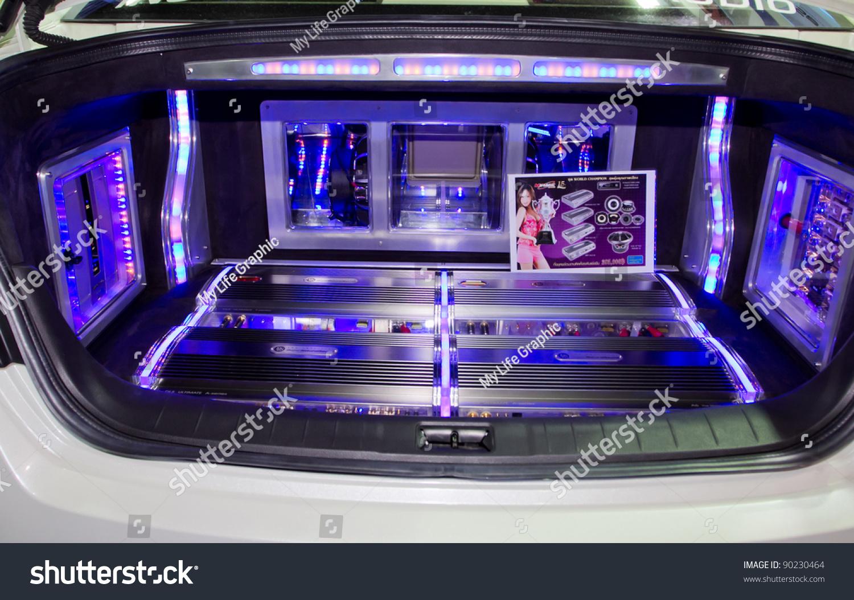 bbangkok december 4 car audio show stock photo 90230464. Black Bedroom Furniture Sets. Home Design Ideas
