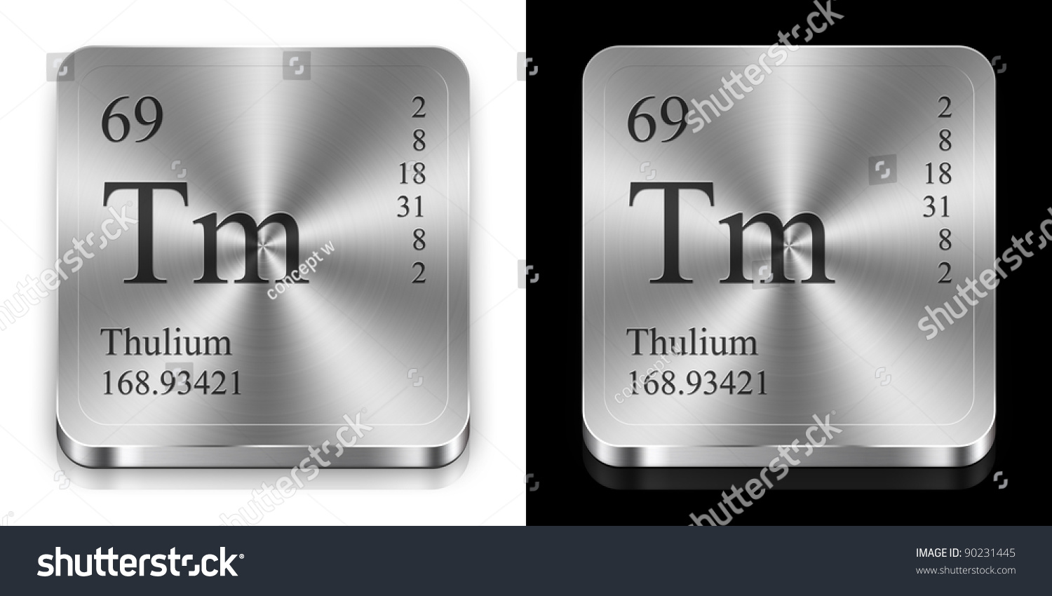 Thulium element periodic table two steel stock illustration thulium element of the periodic table two steel web buttons gamestrikefo Gallery