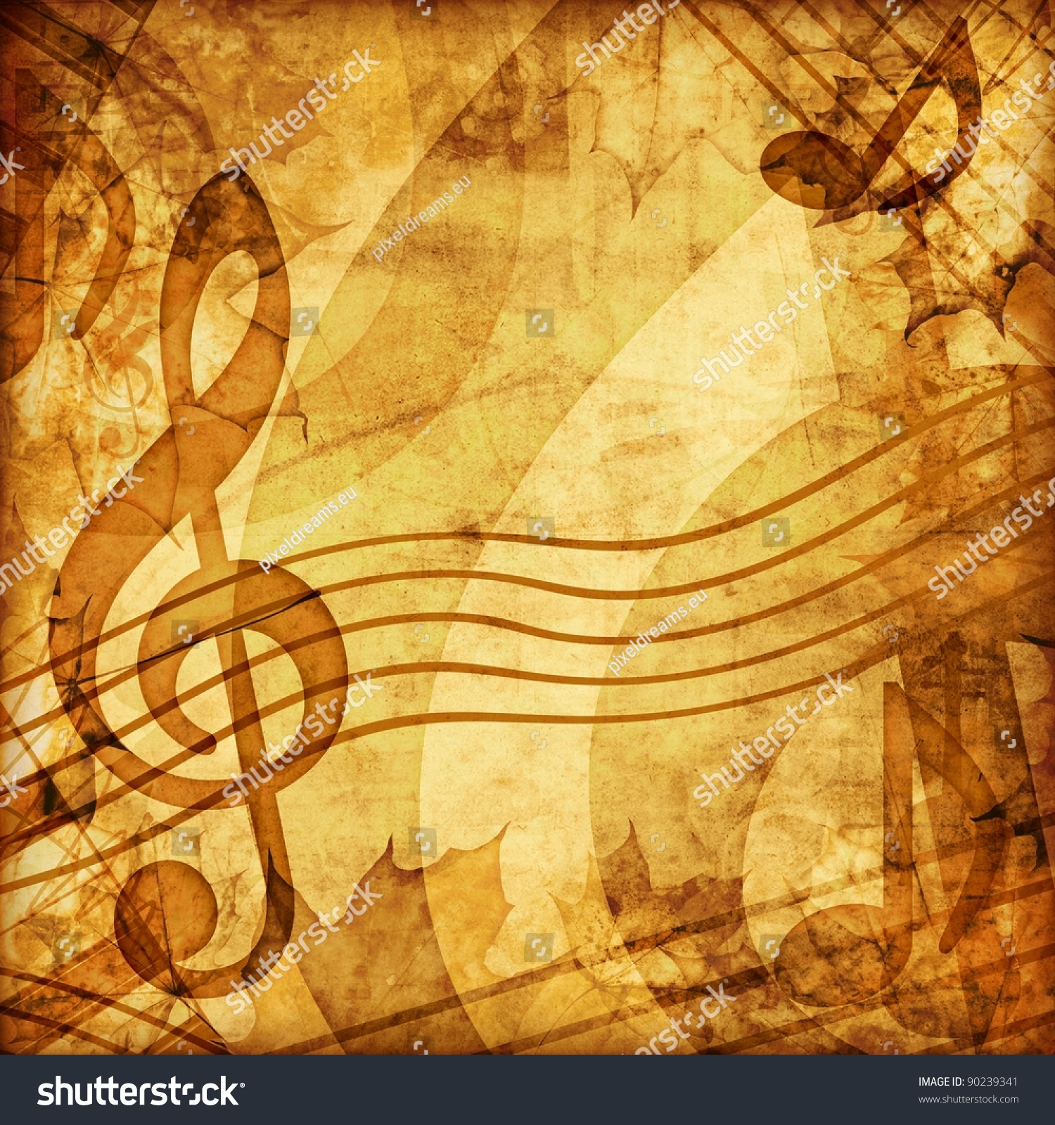 Vintage Music B... Vintage Music Twitter Backgrounds