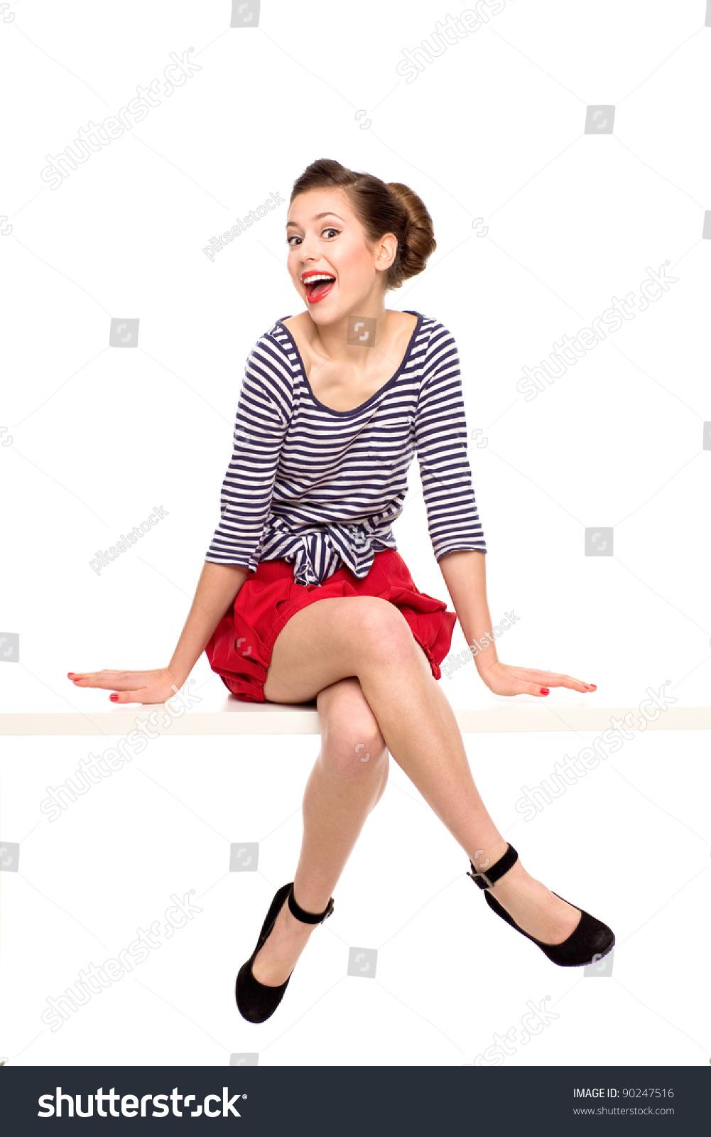 Pin Up Girl Sitting