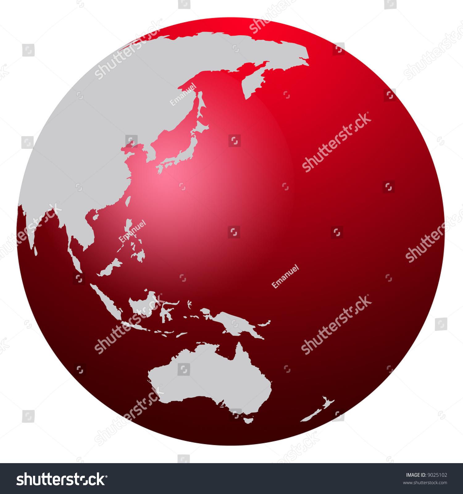 red world map globe asia australia stock illustration 9025102 shutterstock