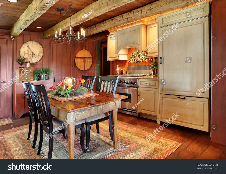 Primitive Kitchen Modernized Kitchen Primitive Colonial Style Reproduction Stock