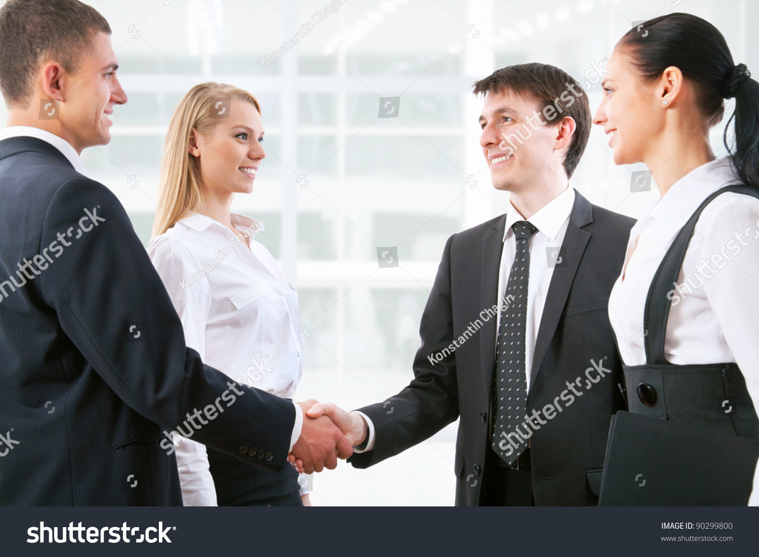 Business people handshake greeting deal at work photo free download - Handshake Business People Before The Meeting