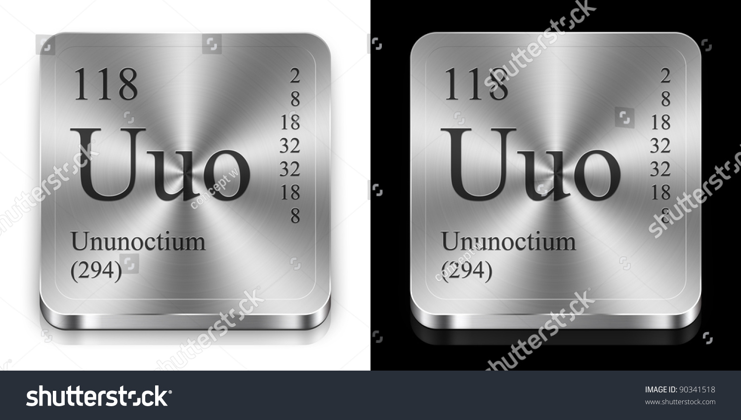 Ununoctium element periodic table two steel stock illustration ununoctium element of the periodic table two steel web buttons urtaz Images