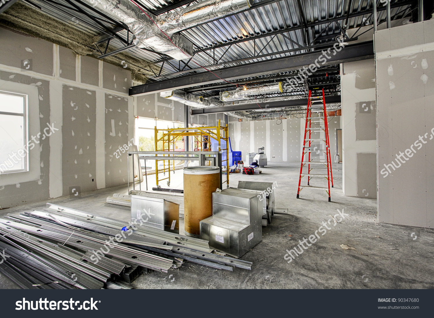 Interior construction site stock photo 90347680 shutterstock for Interior site