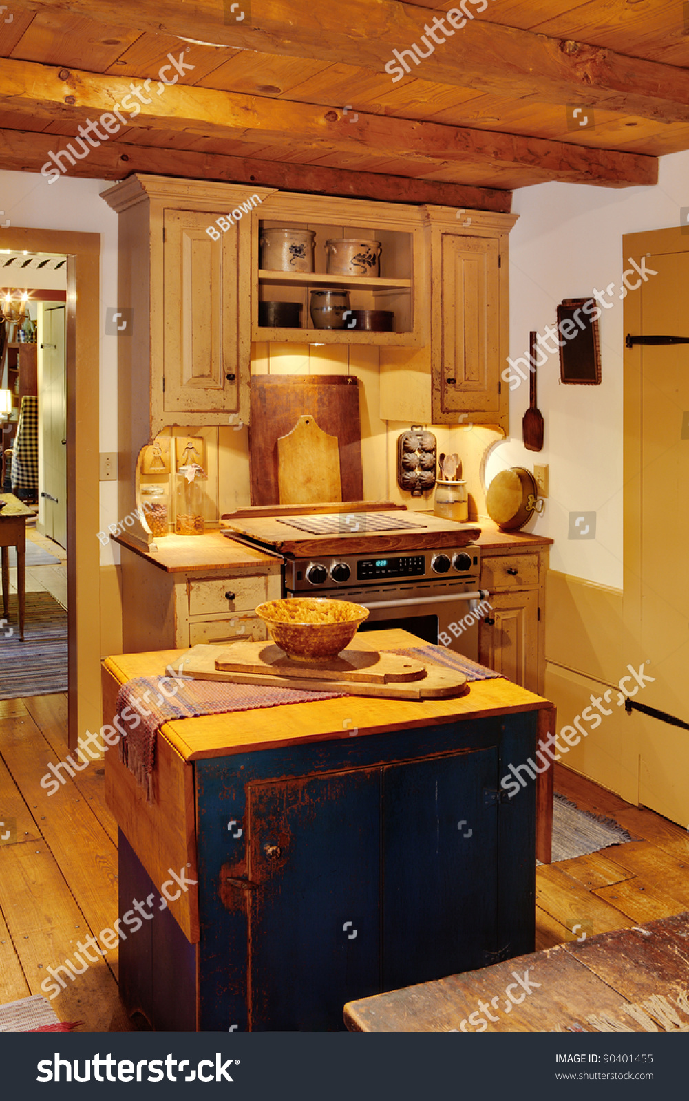 Primitive Kitchen The Kitchen In A Primitive Colonial Style Reproduction Home The