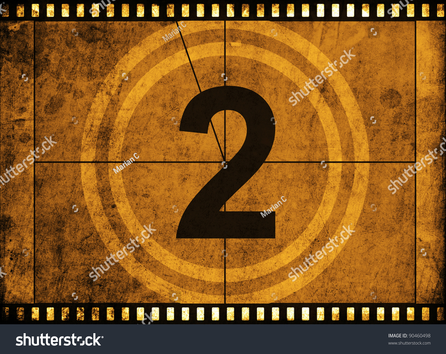 Movie film strip with countdown number on grunge - How to make a countdown your wallpaper ...