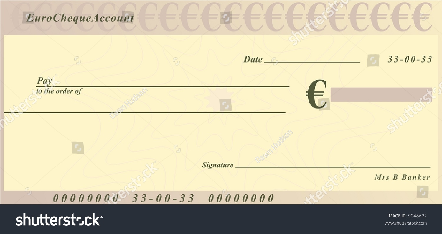 royalty free euro cheque generic design 9048622 stock photo. Black Bedroom Furniture Sets. Home Design Ideas