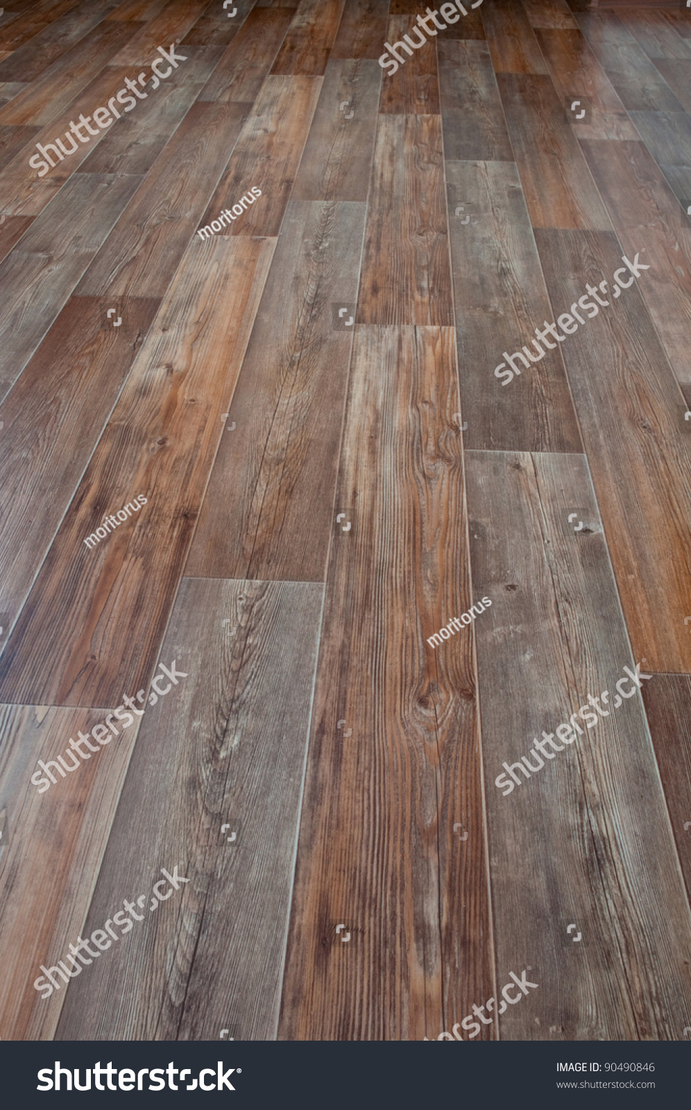 Linoleum floor covering imitation wood stock photo for Hardwood floor covering