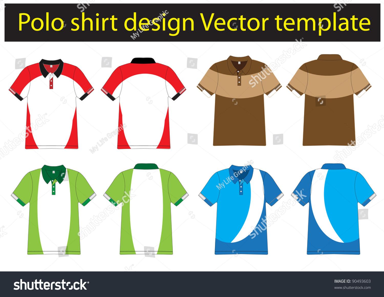 Polo Shirt Design Vector Template Stock Vector 90493603