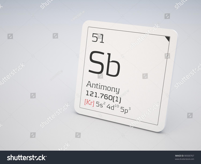 Antimony element periodic table stock illustration 90500767 antimony element of the periodic table gamestrikefo Choice Image